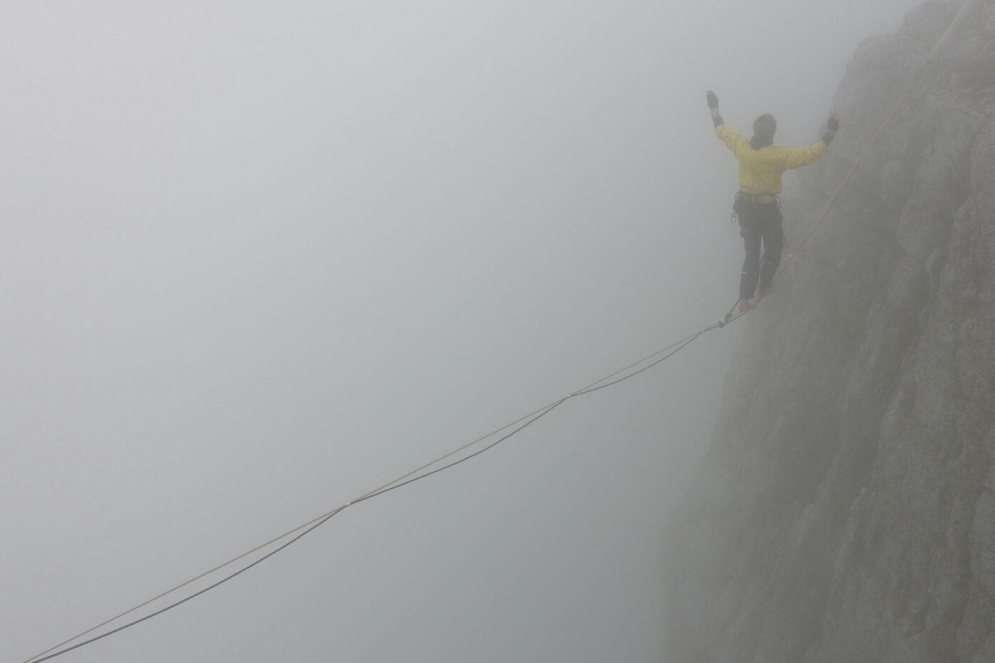 Balansa Slackline - Triglav Highline, slackline nad triglavsko severno steno