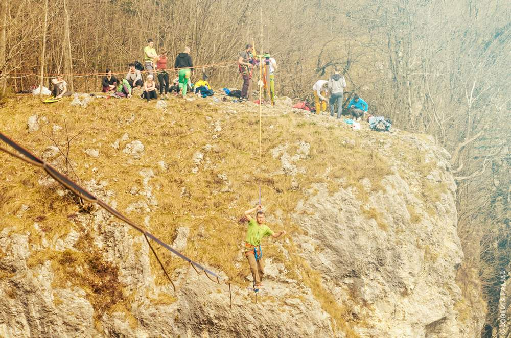 balansa slackline highline meeting Bohinjska Bela 2017