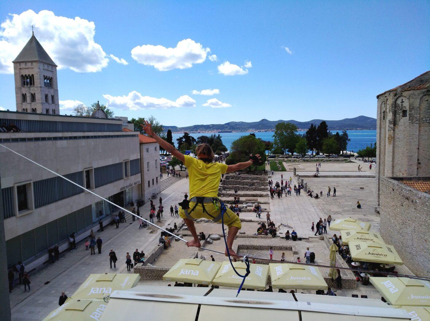 Balansa Slackline urban Highline Zadar Outdoor Festival 2017