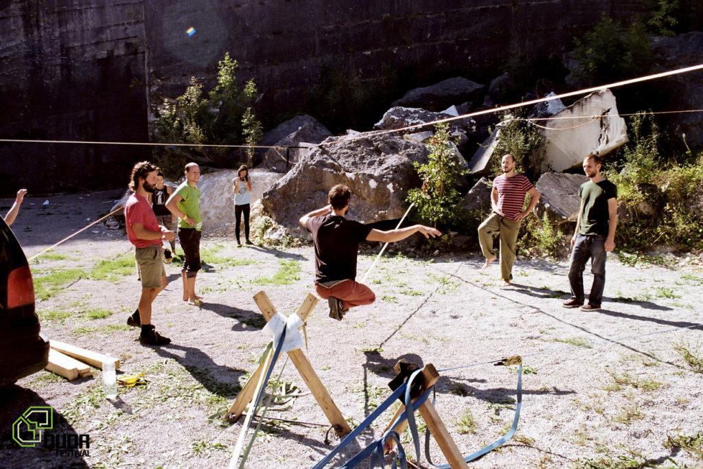 Balansa slackline Highline Workshops in Pula (HR)