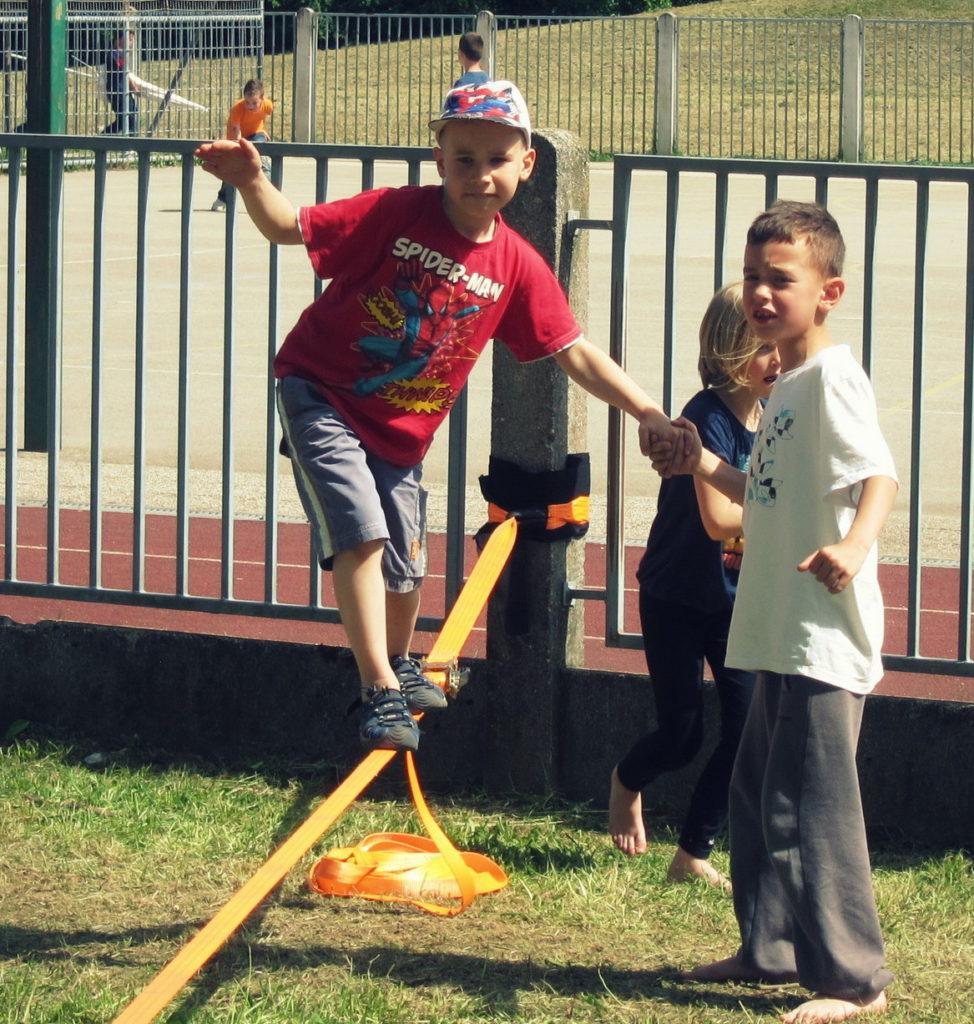 Balansa Slackline Delavnice Ravnotežja za otroke