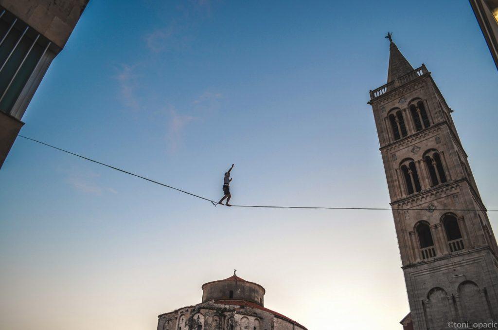 balansa slackline - zadar outdoor festival city highline