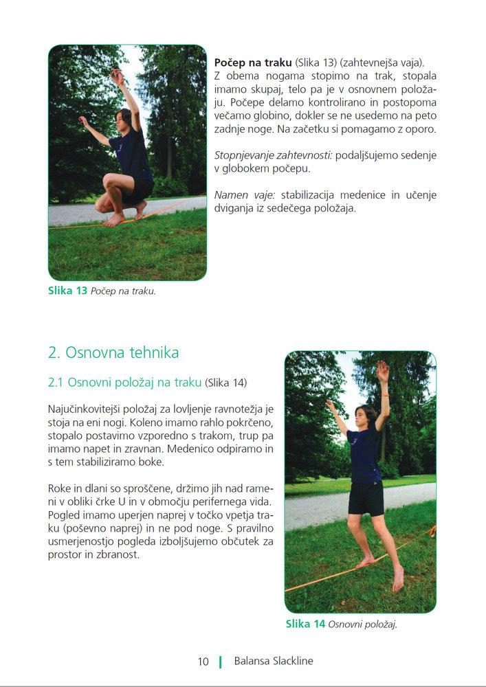 Slackline priročnik za trening ravnotežja