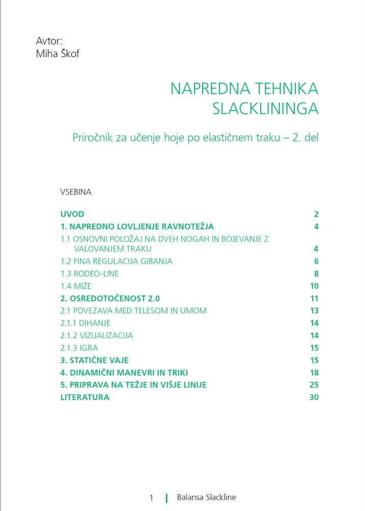 Slackline priročnik za trening ravnotežja -2.del