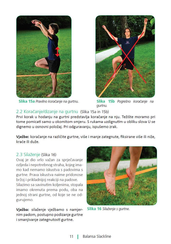 Slackline priručnik za trening ravnoteže