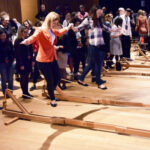 Balansa Slackline - Woodie indoor slackline balance challenge