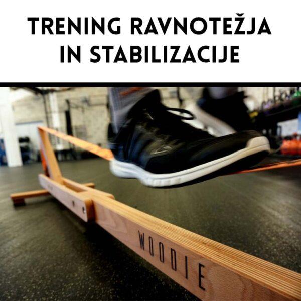 Balansa Slackline - Woodie Indoor Slackline, Trening stabilizacije in ravnotežja, fitnes oprema, balance board