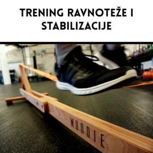 Balansa Slackline - Woodie Indoor Slackline, Trening stabilizacije i ravnoteže, fitnes oprema, balance board