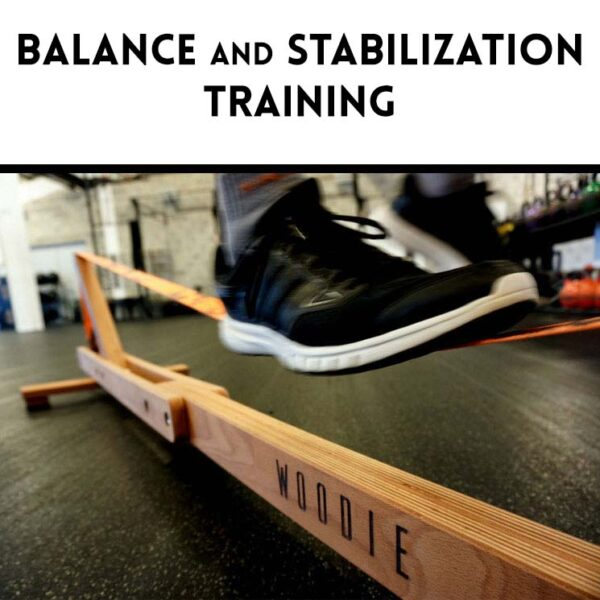 Balansa Slackline - Woodie Indoor Slackline, Balance and Stabilization Training, fitness equipment, balance board