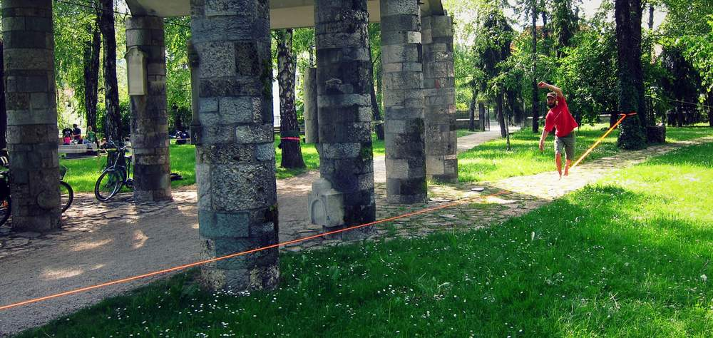 Balansa Slackline - Napredni slackline set - 33m dug i 3,5cm širok
