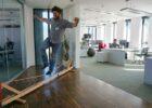 Balansa Woodie Indoor Slackline, Aktivna pauza u uredu na poslu