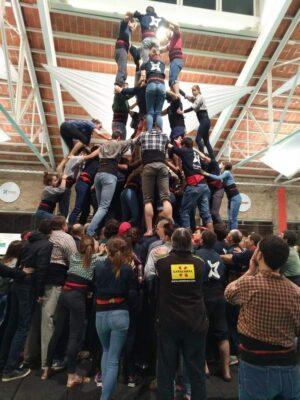 balansa slackline Castellers de Vilafranca trening ravnotežja