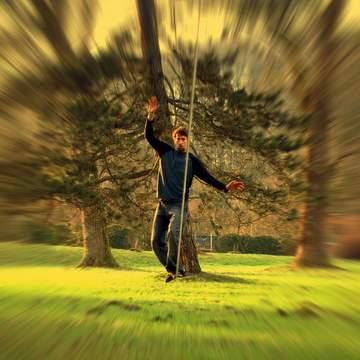 balansa slackline tunnel vision effect - 100% focus, flow - concentration training