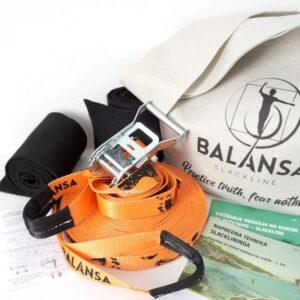 Balansa Slackline - napredni slackline set Ultra Light 23m dug i 2,5cm širok, naranča