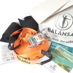 Balansa Slackline - advanced slackline kit Ultra Light 23m long and 2,5cm wide, orange