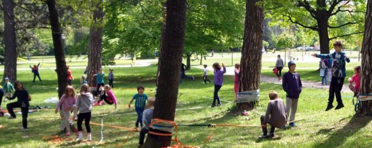 balansa slackline trening ravnotežnih vještina, sportski dan za školu