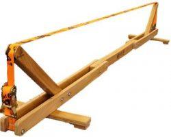 Balansa Slackline - Woodie Indoor Slackline, fitnes oprema iz lesa, novi balance board
